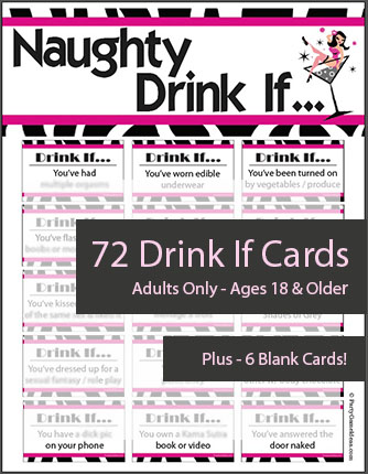 Printable Naughty Drink If Game - Dirty Girls Night Game