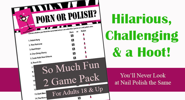image relating to Printable Bachelorette Games named Porn or Polish - Bachelorette Celebration, Bridal Shower Activity