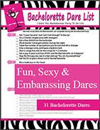 Bachelorette Dares Checklist - I Dare You Game