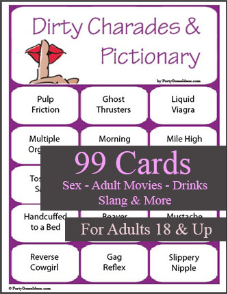 99 Dirty Charades and Pictionary Cards - Printable Game