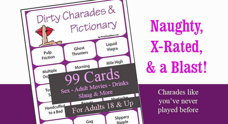 picture relating to Charades Printable named Filthy Charades and Pictionary - 99 Printable Playing cards