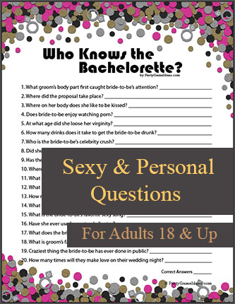 Who Knows the Bachelorette - Printable Bachelorette Party Game