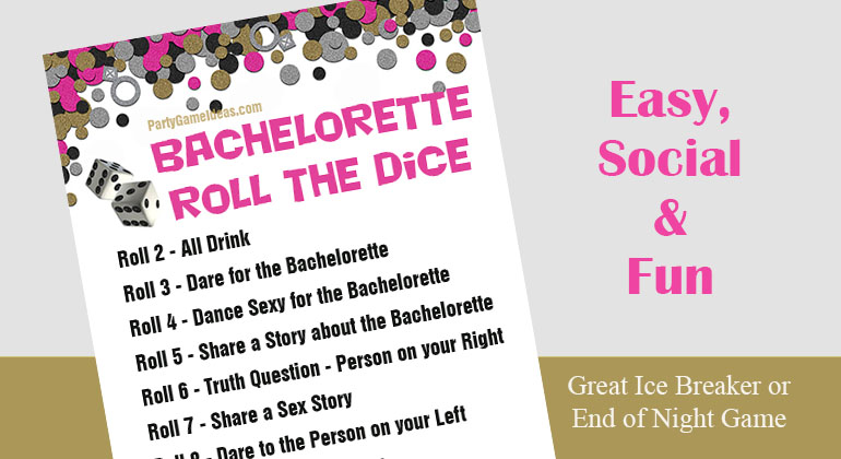 Christmas Gift Exchange Dice Game Printable.Bachelorette Roll The Dice Game