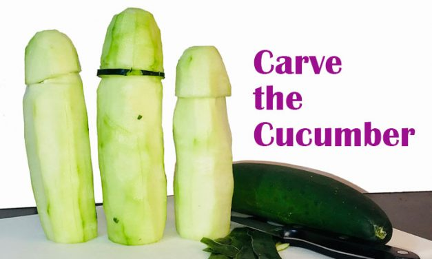 Bachelorette Carve the Cucumber Game