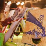 wine and painting