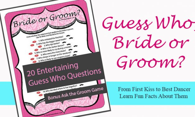 Guess Who Bride or Groom