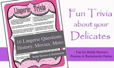 Lingerie Trivia