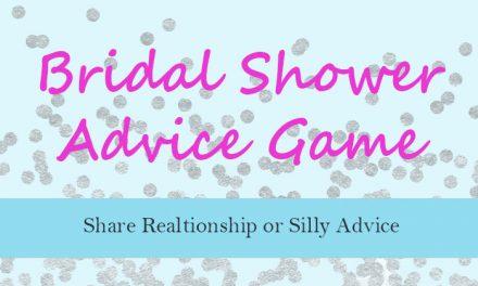 Bridal Shower Advice Game