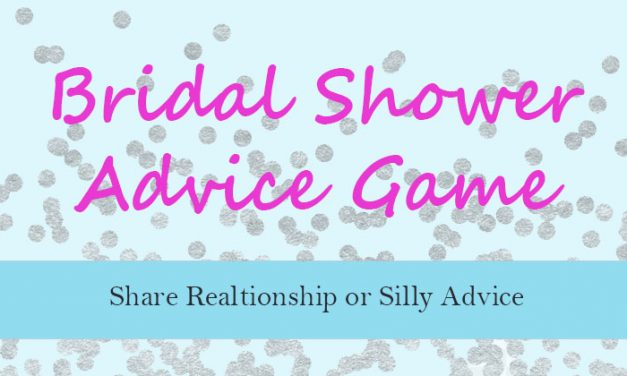 Bridal Shower Advice Game
