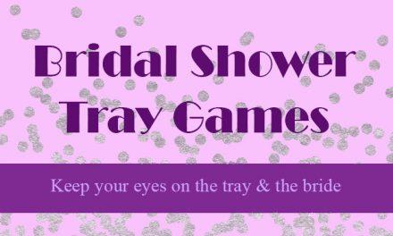 Bridal Shower Tray Games