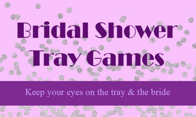 Bridal Shower Tray Games