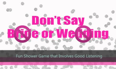 Don't Say Bride or Wedding Game
