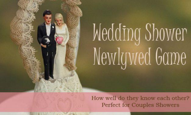Wedding Shower Newlywed Game