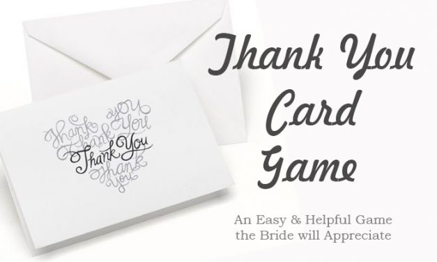 Thank You Card Game