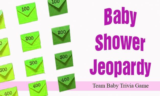 Baby Shower Jeopardy
