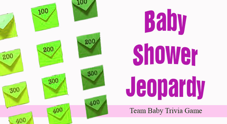 Baby Shower Jeopardy
