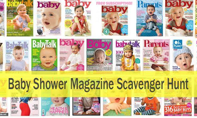 Baby Shower Magazine Scavenger Hunt Game
