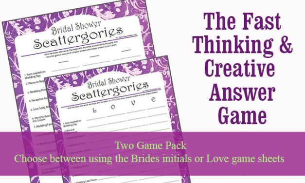 Bridal Shower Scattergories