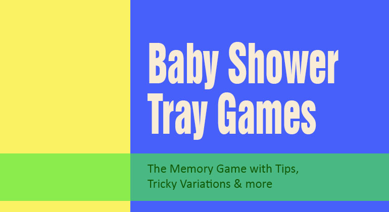Baby Shower Tray Games