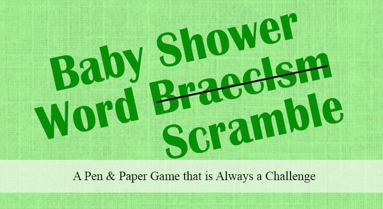 Baby Shower Word Scramble