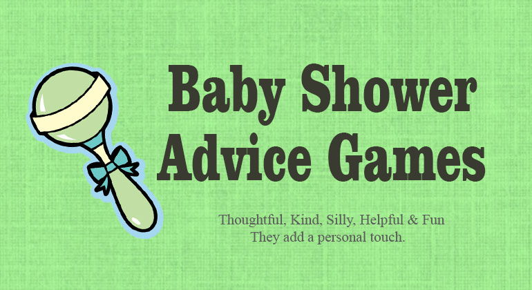 Baby Advice Shower Games