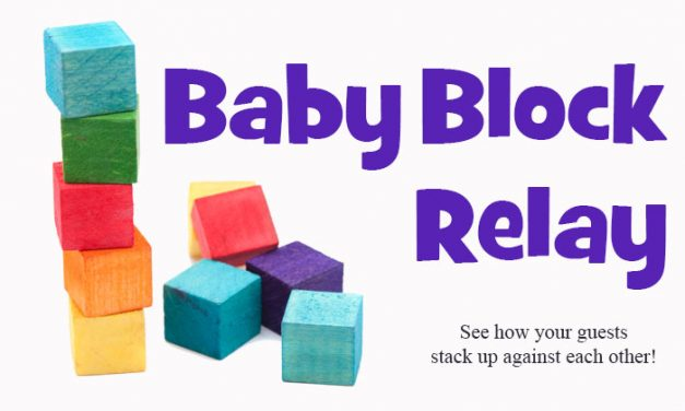 Baby Blocks Relay Shower Game