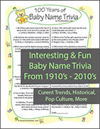 Fun Baby Name Quiz
