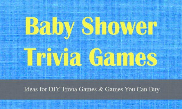 Baby Shower Trivia Games