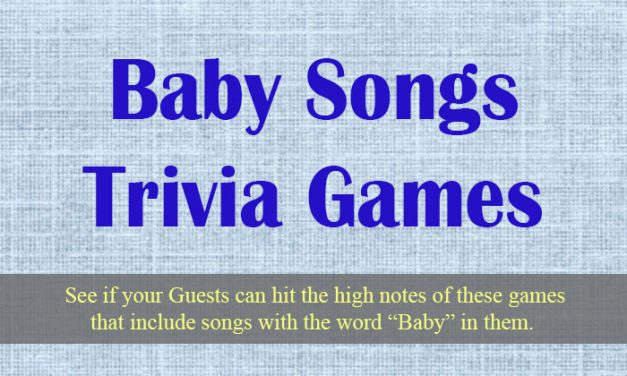 Baby Songs Trivia Games