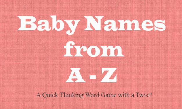 Baby Names from A-Z Game