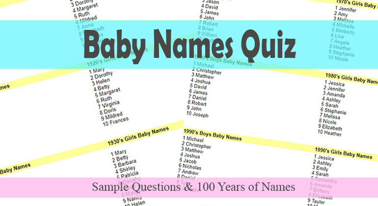 baby names quiz top baby name data from 1910 2010