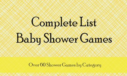 Baby Shower Game List