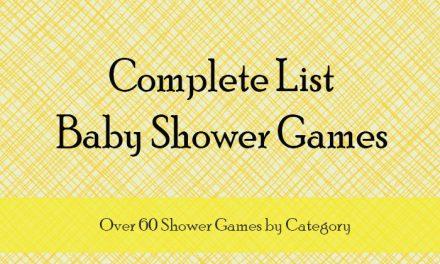Baby Shower Game List
