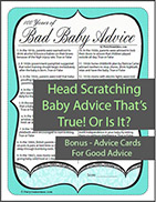 Bad Baby Advice Game - Unique Shower Game