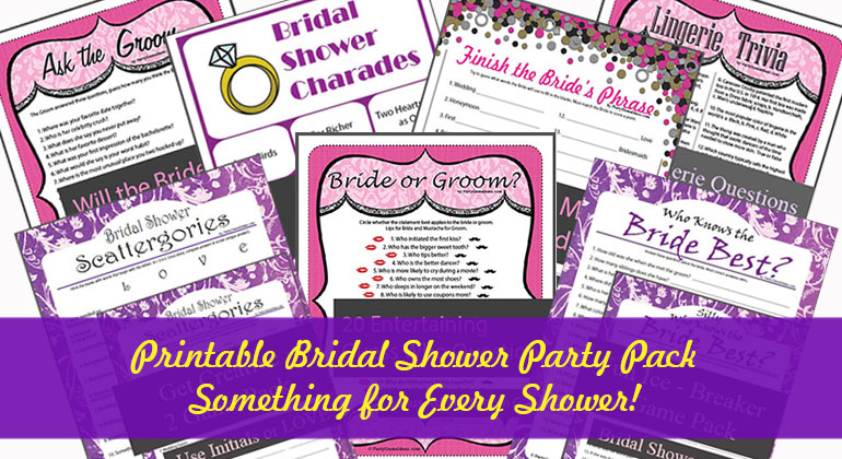 Bridal Shower Printable Party Pack