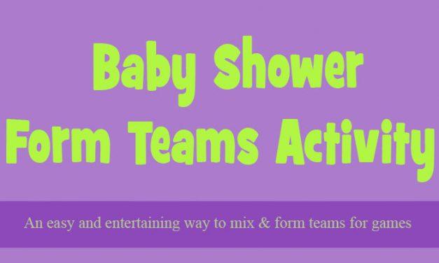 Baby Shower Team Picker Activity