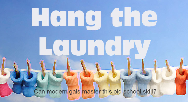 Hang the Laundry Baby Shower Game