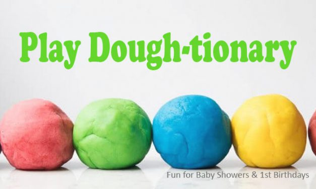 Play Dough-tionary Baby Shower Game