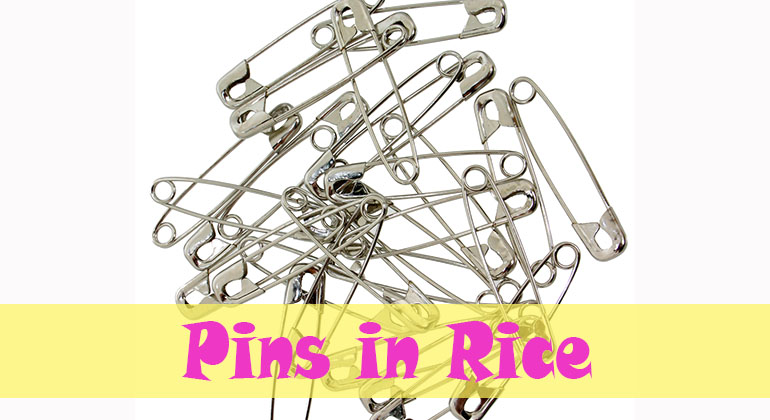 Pins in Rice Shower Game