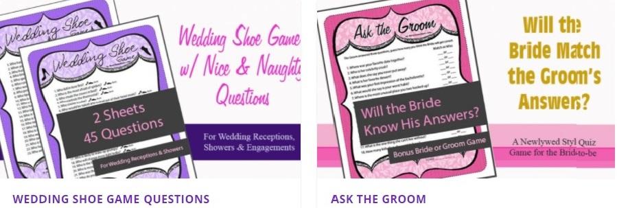 Printable Bridal Shower Games