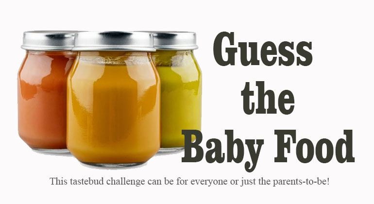 Guess The Baby Food Baby Shower Game
