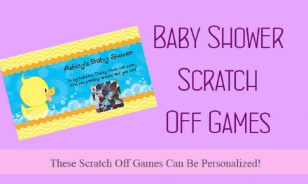 Baby Shower Scratch Off Games