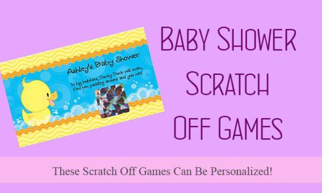 Baby Shower Scratch Off Games