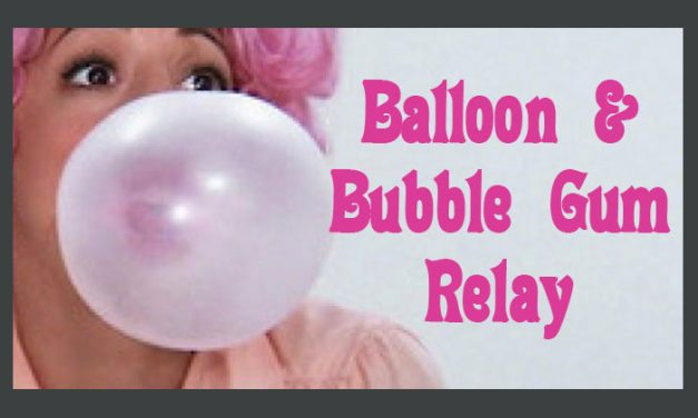 balloon and bubble gum relay
