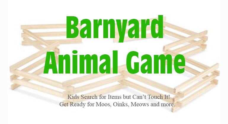 Barnyard Animal Kids Party Game