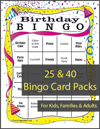 Birthday Bingo Card Games - Printable Birthday Bingo