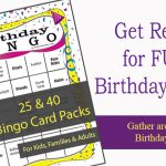 Birthday Bingo Printable Games