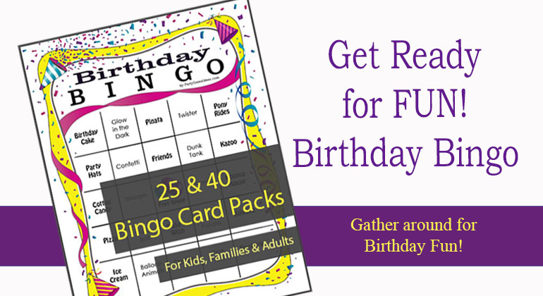photograph about Printable Card Games identified as Birthday Bingo Game titles - Printable Birthday Bingo Playing cards