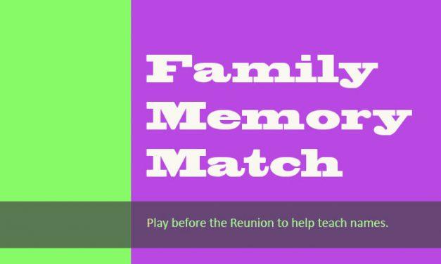 Family Memory Match