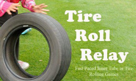 Tire Roll Relay Race